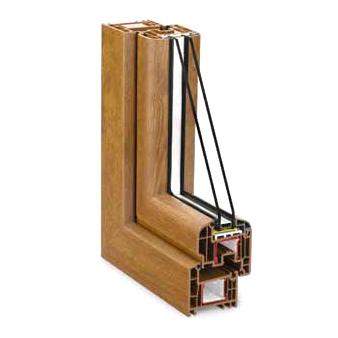 Ventana aluminio imitacion madera-
